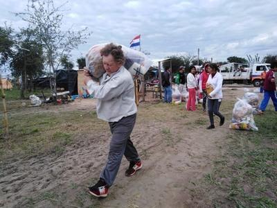 Inició segunda distribución de ayuda humanitaria en Pilar