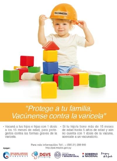 La varicela es una enfermedad contagiosa prevenible por vacuna
