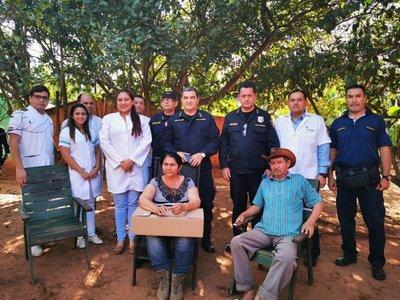 Comandante de la Policía visita a víctimas del EPP en Concepción