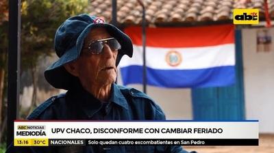 Veteranos del Chaco repudian feriado móvil
