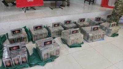 Senad incauta 457 kilos de cocaína en operativo 'Pescador'