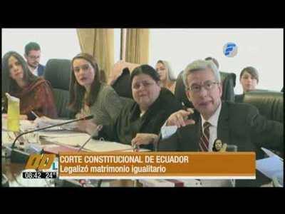 Corte Constitucional de Ecuador legalizó el matrimonio igualitario