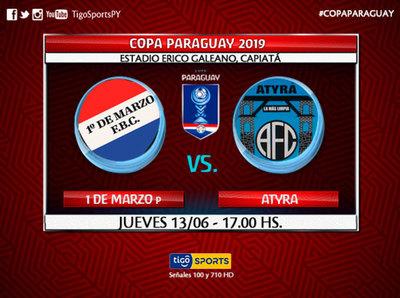 1º de Marzo y Atyrá debutan en la Copa de todos