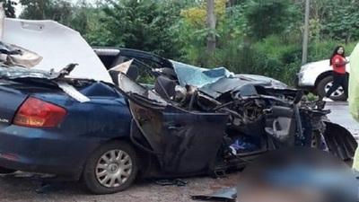 Joven fallece en violento choque en Canindeyú