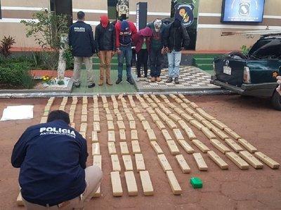 Incautan 145 kilos de marihuana en Pedro Juan Caballero