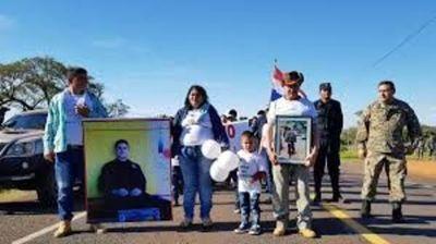 Madre de Edelio marcharon pidiendo la libertad del secuestro por el EPP