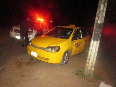 Taxista recibió un tiro en la nuca