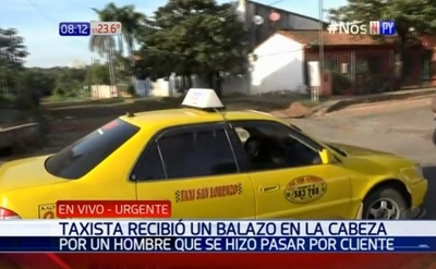 Taxista está en grave estado luego de ser baleado en la cabeza