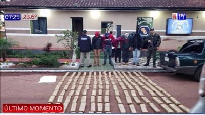 Incautan 145 kilos de marihuana en Amambay