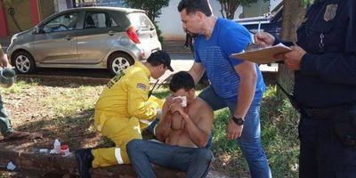 Brasileño lucha por recuperar la visión