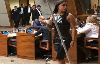 La diputada Jazmín Narváez desvió la atención de periodistas y parlamentarios