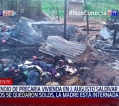 Niños se salvan de milagro tras incendio de su vivienda