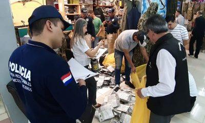 Incautan gran cantidad de productos falsificados en serie de allanamientos