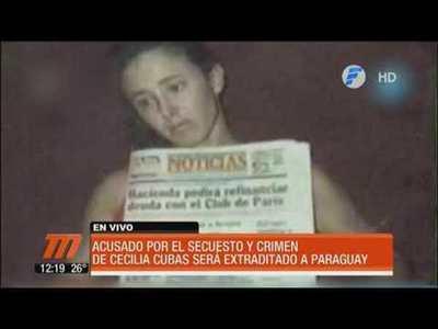 Acusado del crimen de Cecilia Cubas será extraditado a Paraguay