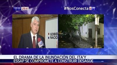 Drama del Itay: Essap promete construir desagüe