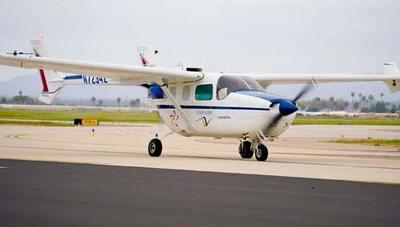 Realizan con éxito el primer vuelo de una aeronave con motor híbrido