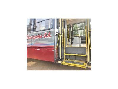 Habilitan buses inclusivos  que darán servicio hasta Caacupé