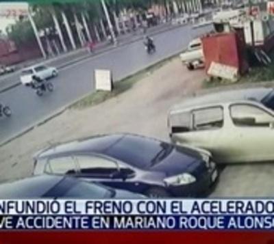 Atropelló a un hombre cuando intentaba estacionar