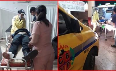 Guardia y playero heridos en intento de asalto