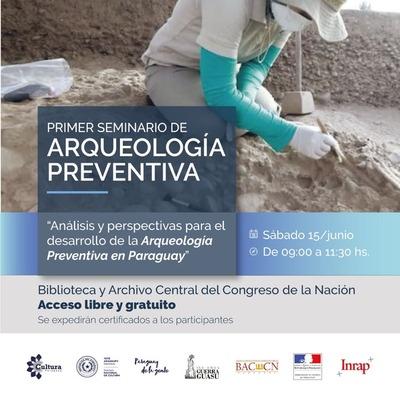 Primer Seminario de Arqueología Preventiva se realiza este sábado