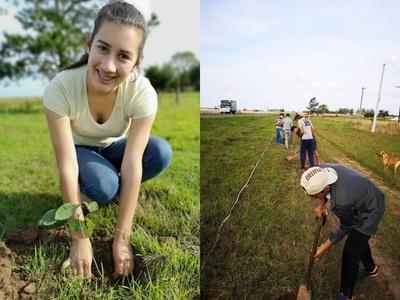Jóvenes misioneros ya plantaron 1.000 arbolitos