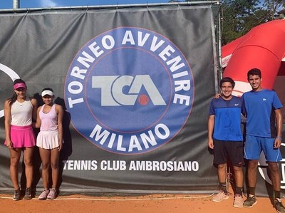 Tenistas juveniles campeones en Torneo Avvenire de Milán