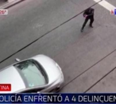Policía retuvo a cuatro delincuentes armados en Buenos Aires