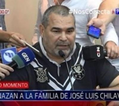 Familia de Chilavert recibe nuevos audios con amenazas