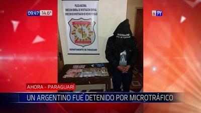Capturan a ciudadano argentino por tráfico de drogas