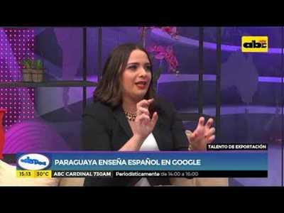 Paraguaya enseña español en Google