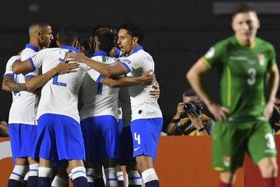 Brasil goleó a Bolivia