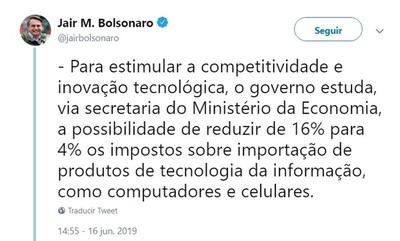 Brasil estudia reducir impuestos a productos tecnológicos