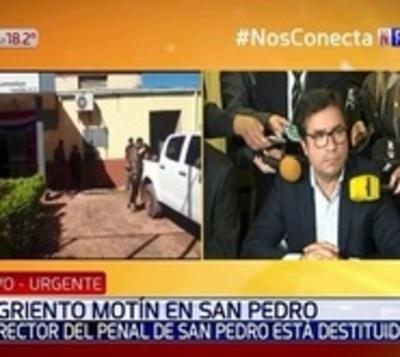 Destituyen a dos directores tras masacre en cárcel de San Pedro
