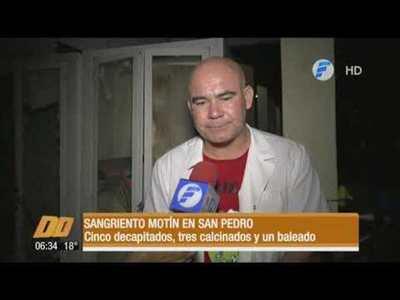 Sangriento motín en San Pedro