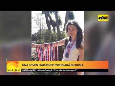Joven Itapuense estudiará en Rusia