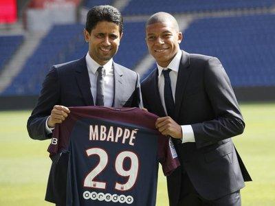 """Al Khelaifi dice estar """"seguro al 200 %"""" de que Mbappé se queda"""