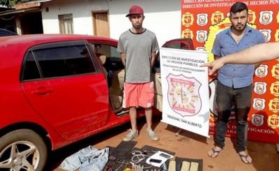 Jóvenes detenidos por hurto domiciliario