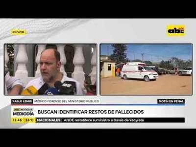 Motín en San Pedro: Buscan identificar restos de fallecidos