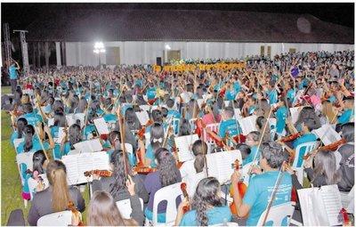 Más de mil instrumentos sonaron ayer en Yaguarón