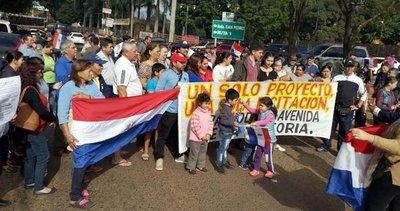 Sanlorenzanos se manifestaron, pero no recibieron respuestas del MOPC