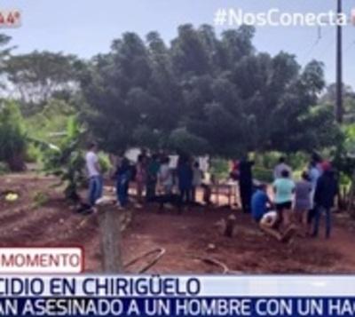Asesinan a hachazos a hombre en colonia Chirigüelo