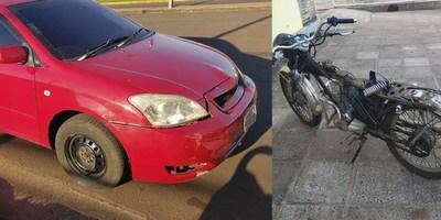 MOTOCICLISTA SUFRE LESIONES EN ACCIDENTE DE TRÁNSITO