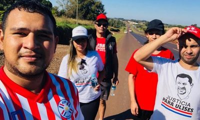 Peregrinan hasta Asunción para pedir libertad para Ulises Quintana