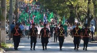 Varias calles de la capital bloqueadas por movilización de campesinos