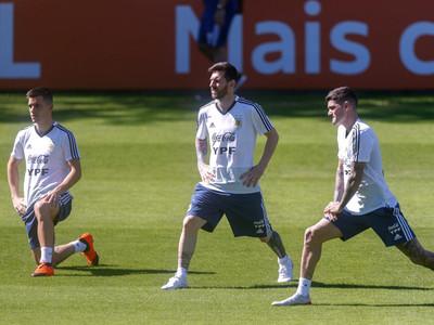 Los detalles del entrenamiento de Argentina