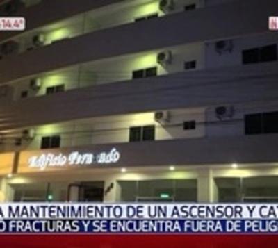 Cayó un ascensor y trabajador sufre lesiones graves