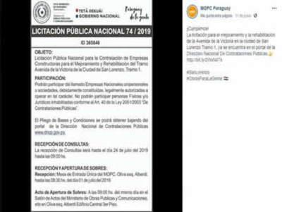 Defensoría del Pueblo canaliza reclamo popular de vecinos del barrio Reducto de San Lorenzo.