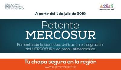 Patente del Mercosur entrará en vigencia desde julio