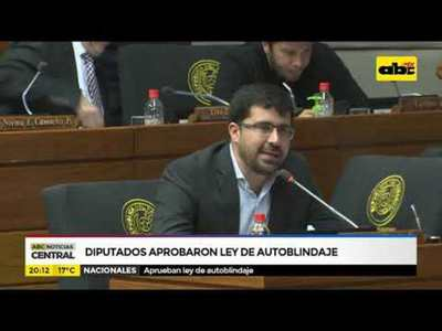 Diputados aprobaron ley de autoblindaje