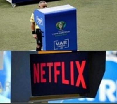 Hasta Netflix se refirió al VAR de Argentina-Paraguay